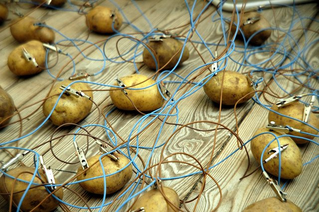 A Potato Battery Can Light Up a Room For Over a Month