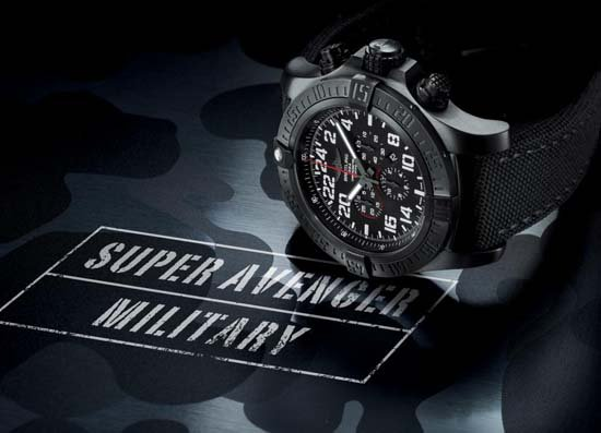 Breitling Super Avenger Military Chronograph Limited Edition