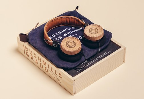 Whiskey Barrel Headphones