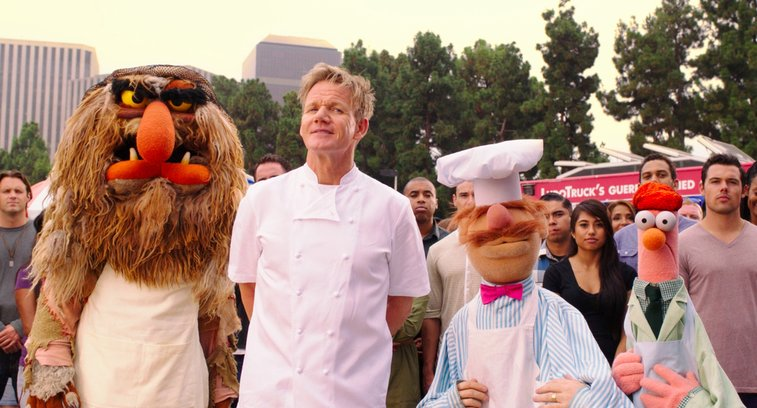 "Gordon Ramsay Competes With The Swedish Chef, ""Iron Chef""-Style"