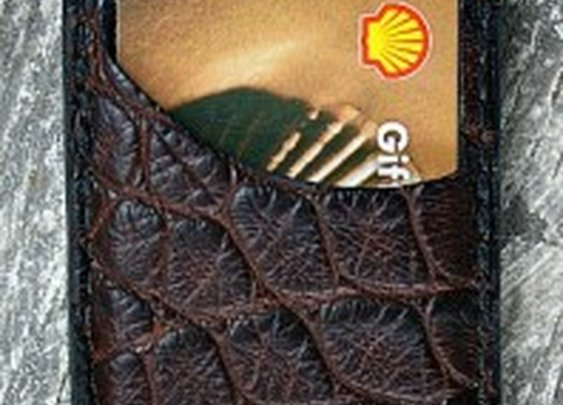 Genuine Alligator Front Pocket Wallet-Made In America