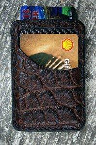 Genuine Alligator Front Pocket Wallet-Made In America