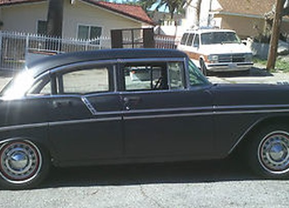 """Viewing Auction #120853423877 - 1956 Chevy Bel Air 4 Door """" Rat Rod """"  Low Reserve Tri Five 150/210 