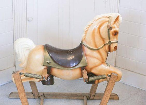 Wonder Horse Rocking Horse Vintage rocking horse Mid by MollyFinds
