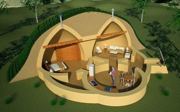Triple Dome Survival Shelter   Tiny House Design