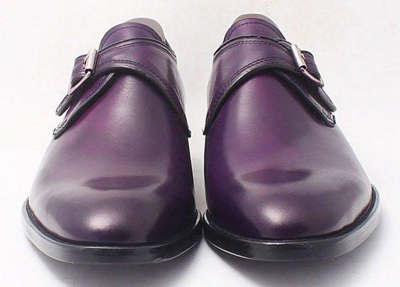custom hand-painted purple patina