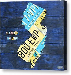 State Shapes Made from Vintage License Plates