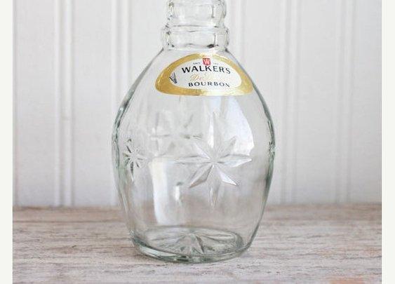SALE Walkers Bourbon Bottle Decanter Bottle Liquor by MollyFinds