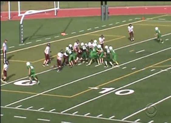 Team of teenage football players does something unexpected. [VIDEO]