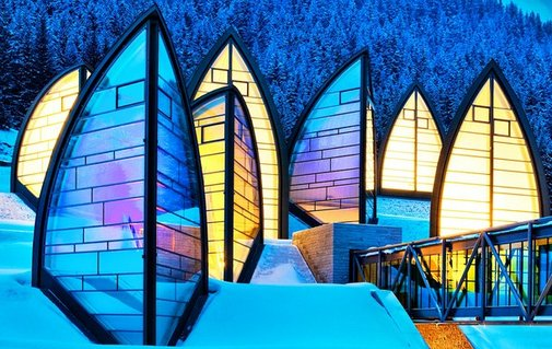 Alpine hotel - real artwork