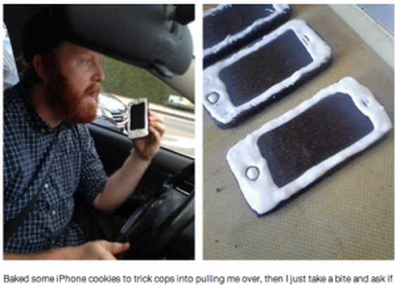 i-phone cookies – a police prank