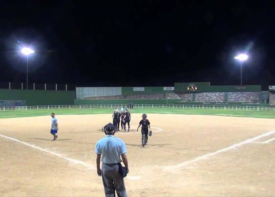 the ump made a bad call and ticked the catcher off :) watch close starting the 1:35 mark