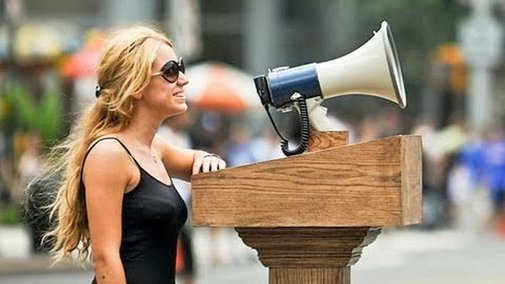 Give People a Megaphone and What Would You Expect?