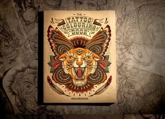 MEGAMUNDEN TATTOO COLORING BOOK