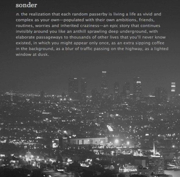 Sonder: The Realization...
