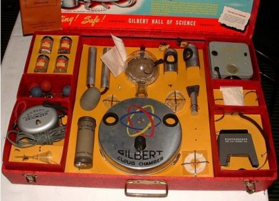 #1 most dangerous children's toy in history: Atomic Energy Lab 1949 - contained Uranium Ore (No joke!)