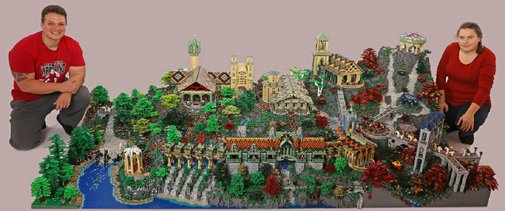 The Lord of the Ring's Rivendell Recreated With 200,000 LEGOs