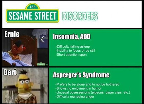 Sesame Street Mental Disorders | memolition