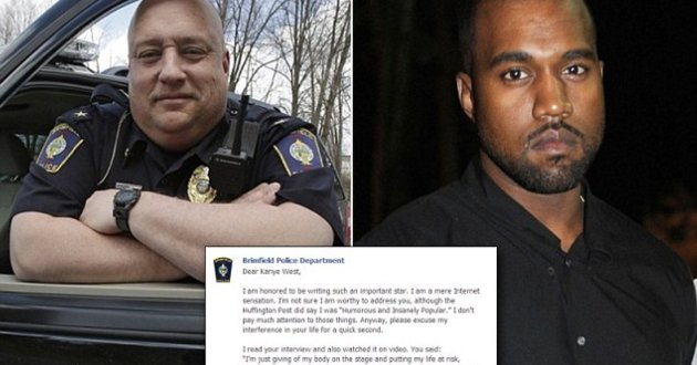 Police Chief writes Epic Letter to Kanye After He Compared Himself to a Police Officer & Soldier