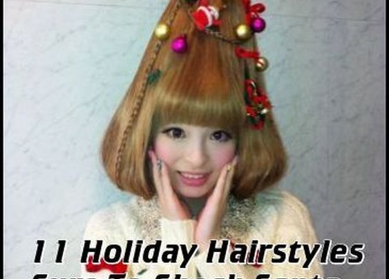 11 Holiday Hairstyles Sure To Shock Santa