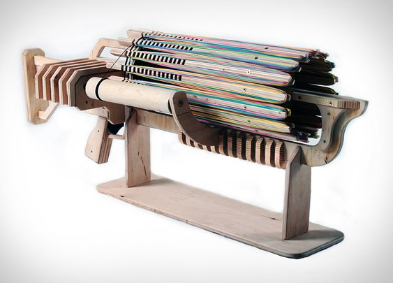 Rubber Band Machine Gun | Uncrate