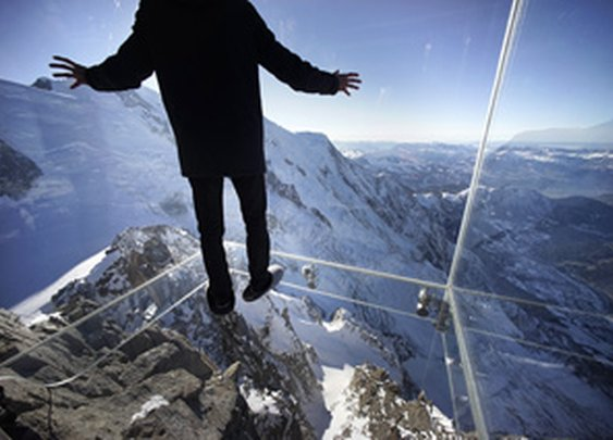 Step Into the Void Above the French Alps