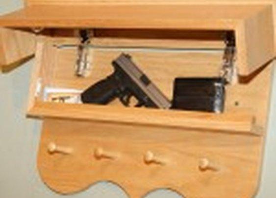 Hidden Compartment Coat Rack/Shelf | StashVault