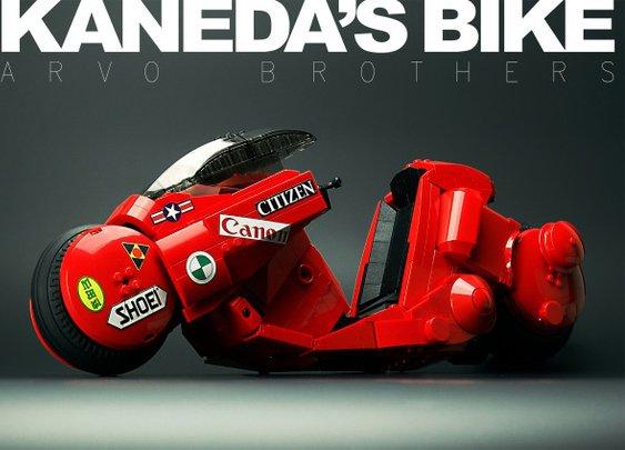 Akira's Kaneda Bike Made Out of Legos