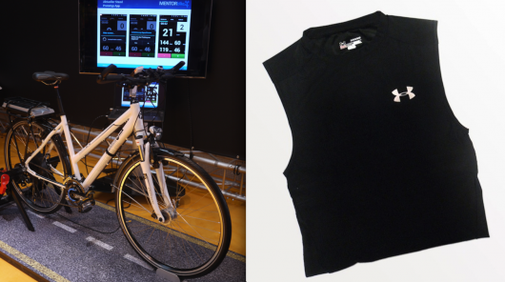 Fitness shirt powers e-bike based on heart rate and breathing