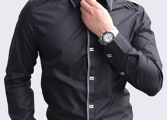 Men's Button Down Shirt with Shoulder Details