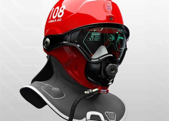 C-Thru Smoke Diving Helmet
