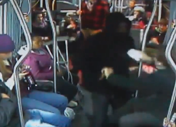 Bus passengers beat robber's ass in Seattle
