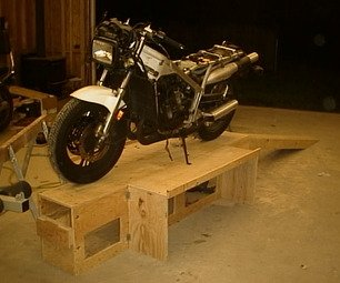 Collapsible Motorcycle Workstand