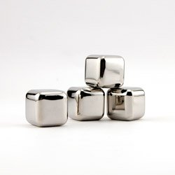 Stainless Steel Ice Cubes- Freezing Tray And Four Reusable Ice Cubes