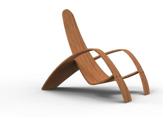 Bent Plywood Lounge Chair Design by Nicole Hodsdon