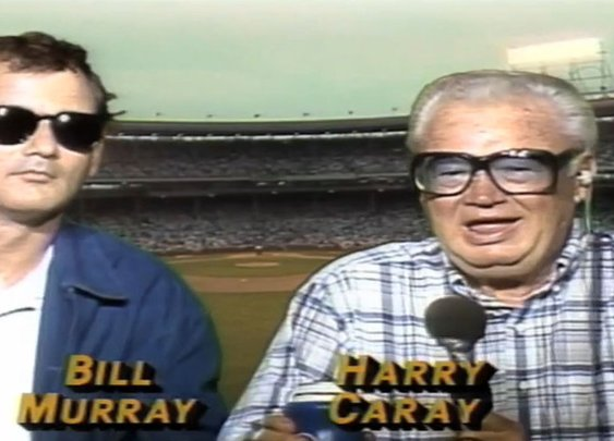 VIDEO: Bill Murray drinking with Harry Caray