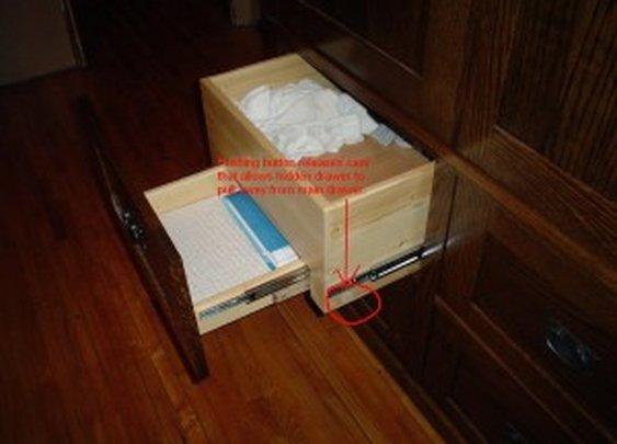 Secret Drawer in Custom Armoire | StashVault