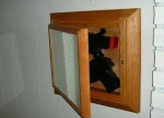 Mirror with Secret Gun Compartment | StashVault