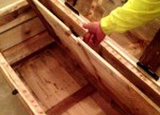 Wooden Trunk with False Floor | StashVault