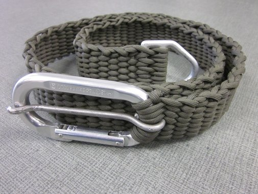 Paracord Belt with Caribiner Buckle and D-Ring