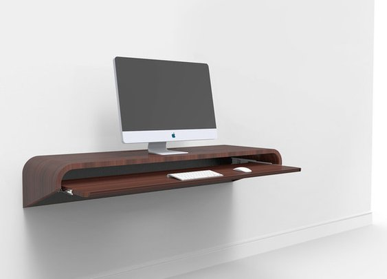 Float Wall Desk Design by Orange22 Design Lab