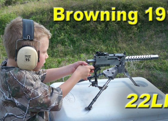 Browning 1919 Beltfed 22LR Machine Gun Overview - YouTube