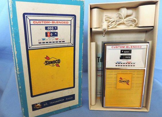 Rare  Working Vintage SUNOCO Oil Company 6 Transister by eddysman