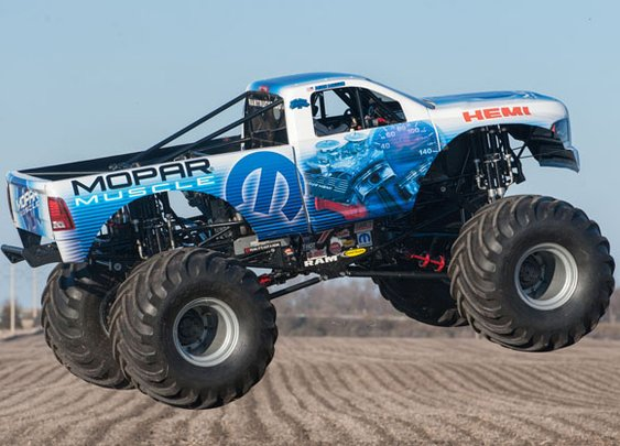 Mopar Muscle graces the dirt stage of Monster Jam