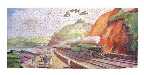 1930s Chad Valley wood jigsaw puzzle of The Torbay by evaelena