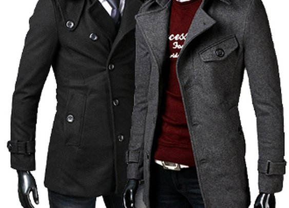 Men's Mid-Length Coat with Belt