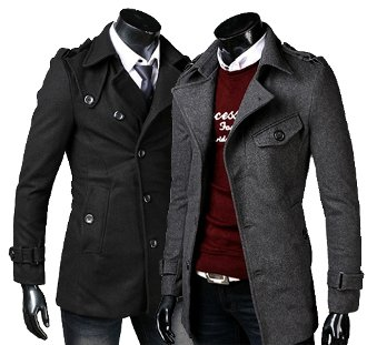 Men's Mid-Length Coat with Belt