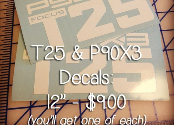 PromoGeorge | P90X3 and T25 Decal, 12 inch | Online Store Powered by Storenvy
