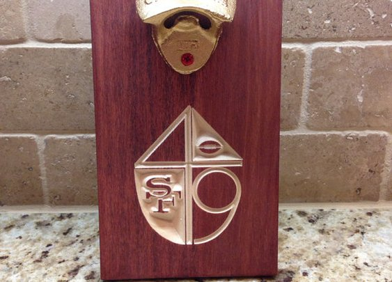 49ers Magnetic Bottle Opener San Francisco  by LankfordManor