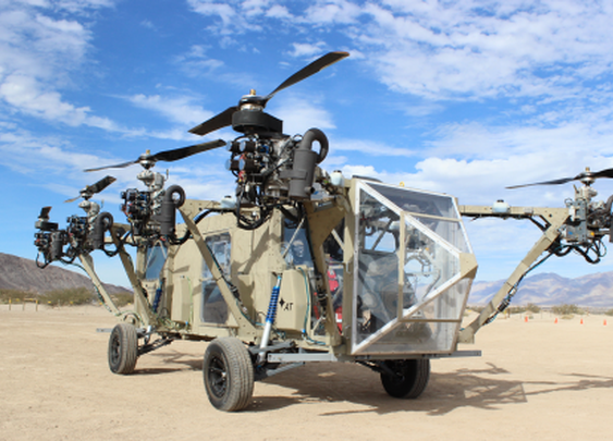 Multicopter meets monster truck: The AT Transformer roadable VTOL aircraft